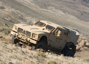 MRAP All Terrain Vehicle. Oshkosh photo.